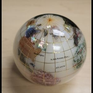 Crystal globe paper weight